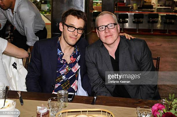 Scott Sternberg and Bret Easton Ellis attend Band of Outsiders and Bon Appetit Host A Dinner In Celebration Of The Publication Of Kevin West's...