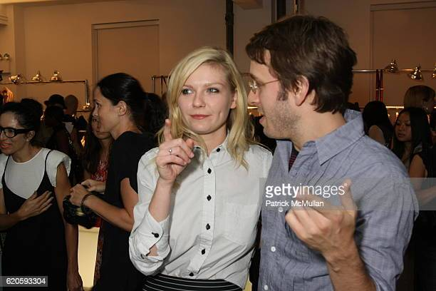 Scott Sternberg and Kirsten Dunst attend Band of Outsiders Presentation Powered by SONY CIERGE at Fashion Week at Milk Studios on May 6 2008 in New...