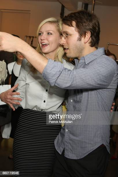 Scott Sternberg and Kirsten Dunst attend Band of Outsiders Presentation Powered by SONY CIERGE at Fashion Week at Milk Studios on September 6 2008 in...