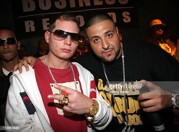 Scott Storch and DJ Khaled during DJ Khaled Birthday Party and Concert at Mansion in Miami November 24 2005 at Mansion in Miami Florida United States