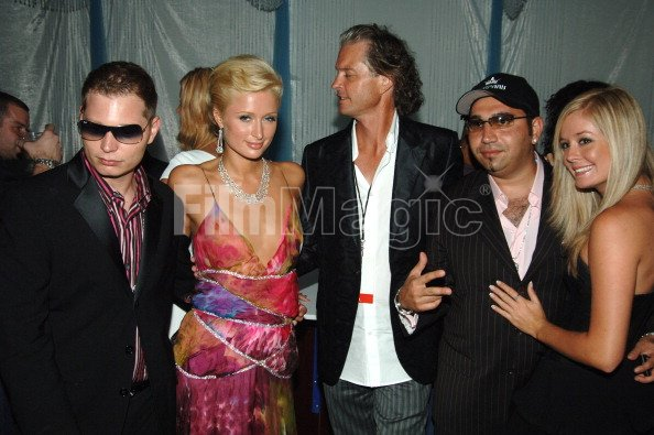 Scott Storch and Paris Hilton during 2005 MTV Video Music Awards