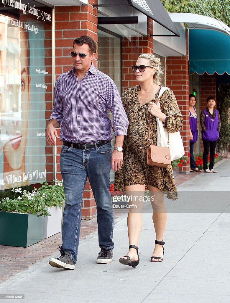 Scott Stuber and Molly Sims are seen in Los Angeles on March 16 2015 in Los Angeles California