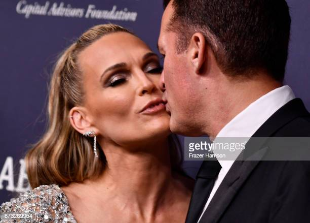 Scott Stuber Molly Sims attend 2017 Baby2Baby Gala at 3LABS on November 11 2017 in Culver City California