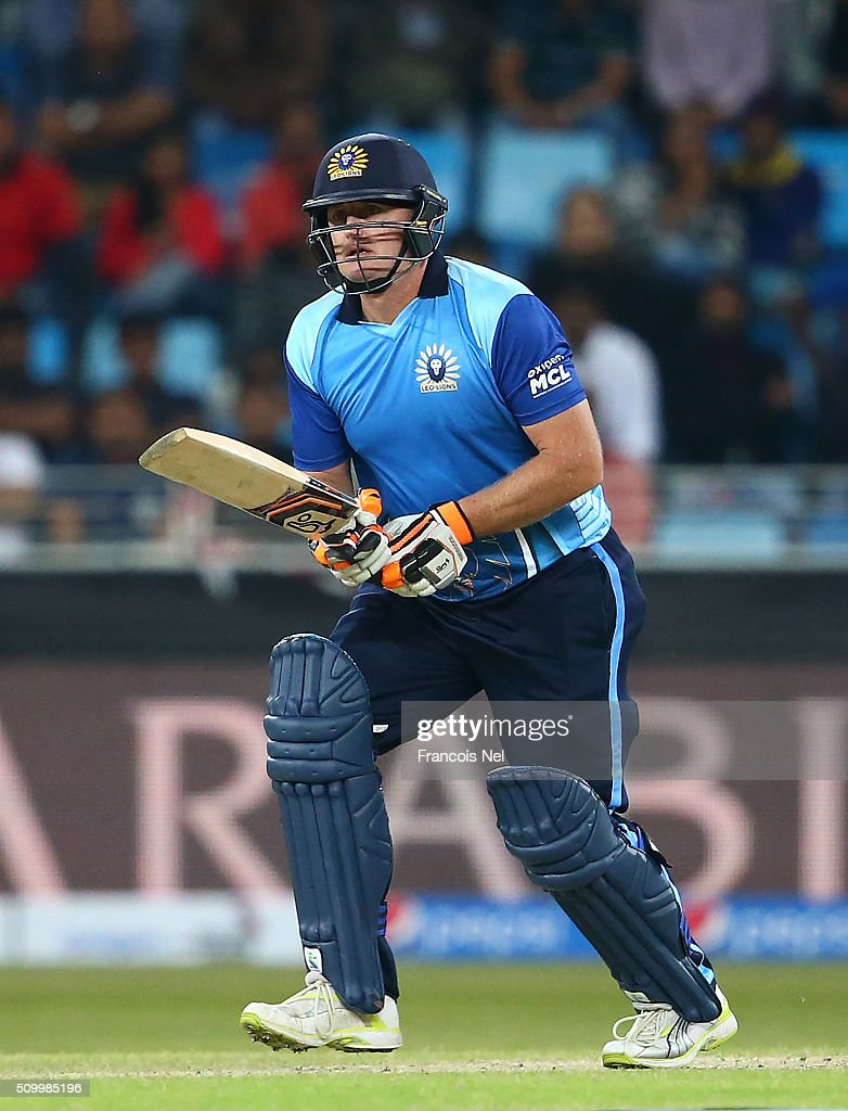 <a gi-track='captionPersonalityLinkClicked' href=/galleries/search?phrase=Scott+Styris&family=editorial&specificpeople=216551 ng-click='$event.stopPropagation()'>Scott Styris</a> of Leo Lions bats during the Final match of the Oxigen Masters Champions League between Gemini Arabians and Leo Lions at the Dubai International Cricket Stadium on February 13, 2016 in Dubai, United Arab Emirates.