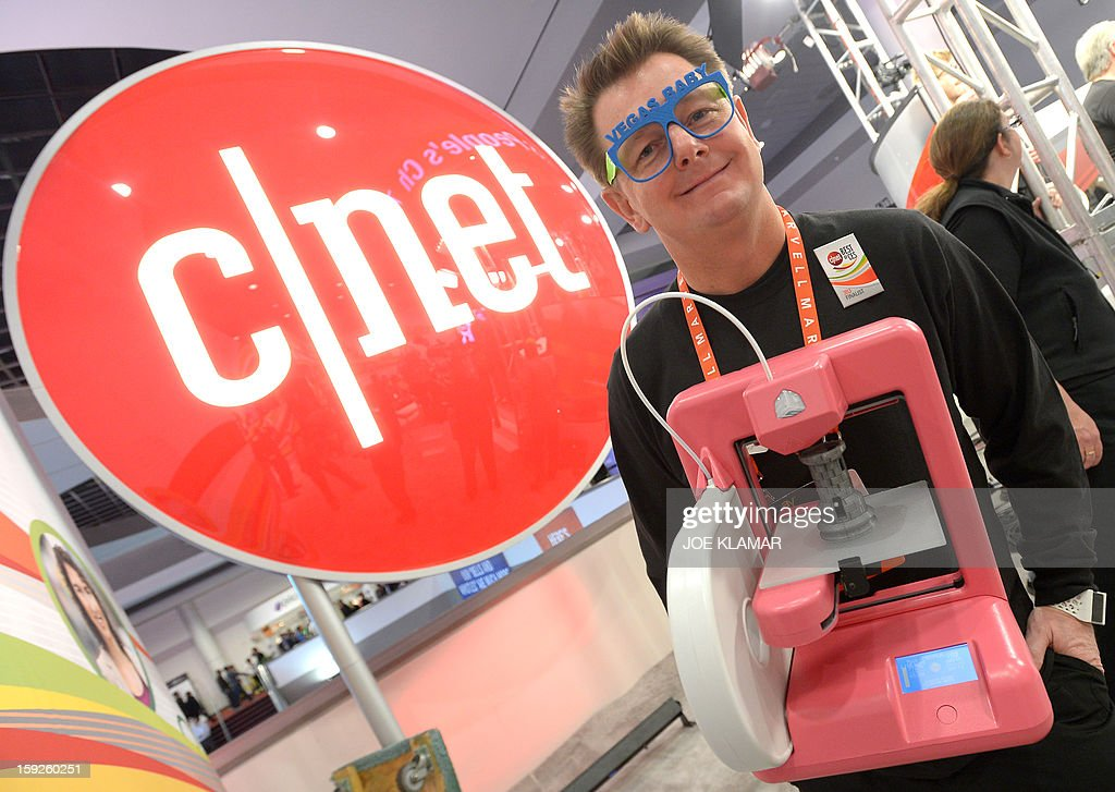 Scott Turner of 3-D Systems Corp. and his 3-D printer wait to participate in C/NET's show during the 2013 International CES at the Las Vegas Convention Center on January 10, 2013 in Las Vegas, Nevada. CES, the world's largest annual consumer technology trade show, runs from January 8-11 and is expected to feature 3,100 exhibitors showing off their latest products and services to about 150,000 attendees.