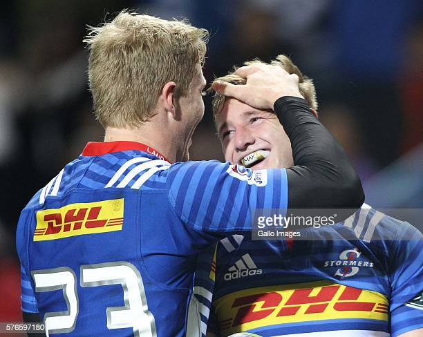 Scott van Breda of the Stormers scores a try during the Super Rugby match between the DHL Stormers and Southern Kings at DHL Newlands on July 16 2016...