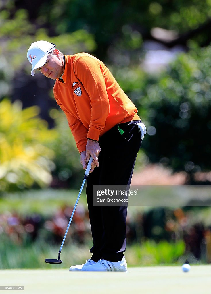 Scott Verplank of Team Oak Tree National plays a shot on the 12th hole during the second day of the Tavistock Cup at the Isleworth Golf and Country Club on March 26, 2013 in Windermere, Florida.