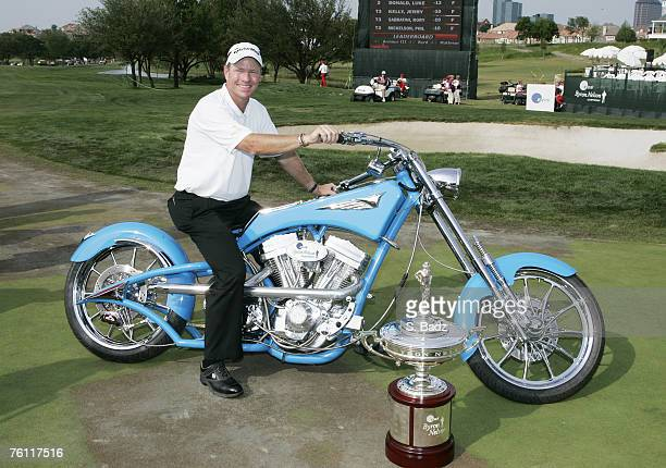 Scott Verplank was awarded a custom made Orange County Chopper after the fourth and final round of the EDS Byron Nelson Championship held on the...