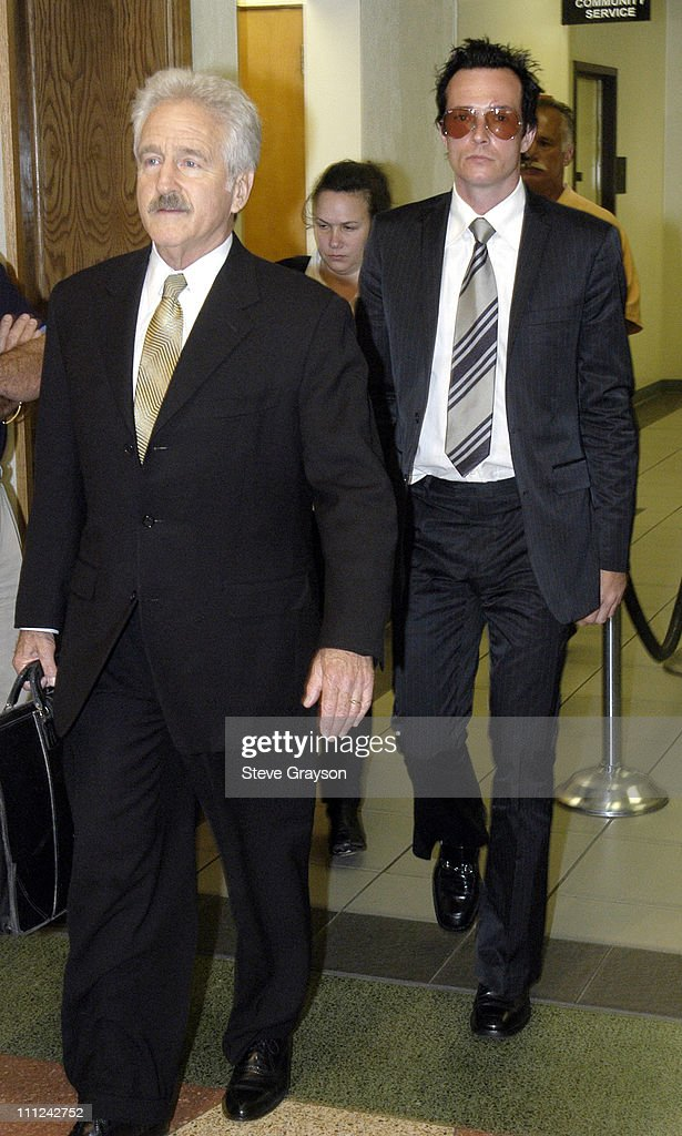 Scott Weiland and Attorney Michael Nasatir during Scott Weiland of The Stone Temple Pilots Arraigned on Drug Charges at Burbank Superior Court in...
