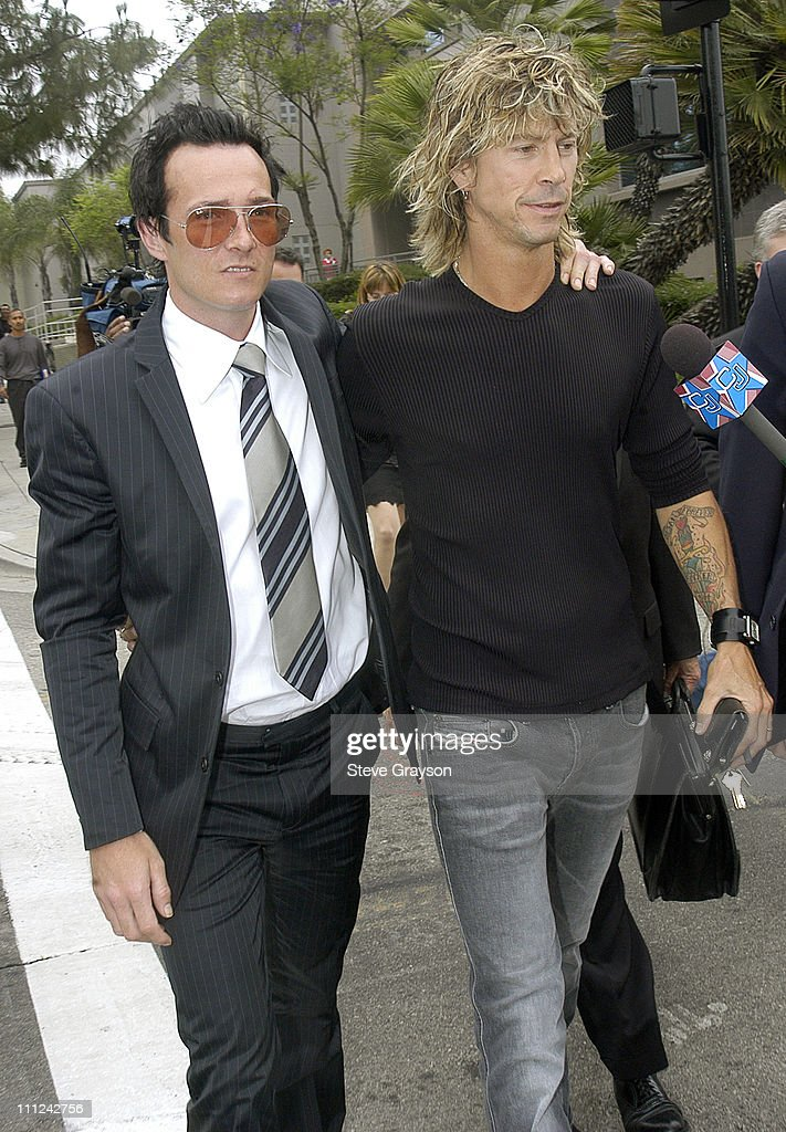 Scott Weiland and Duff McKagan during Scott Weiland of The Stone Temple Pilots Arraigned on Drug Charges at Burbank Superior Court in Burbank...