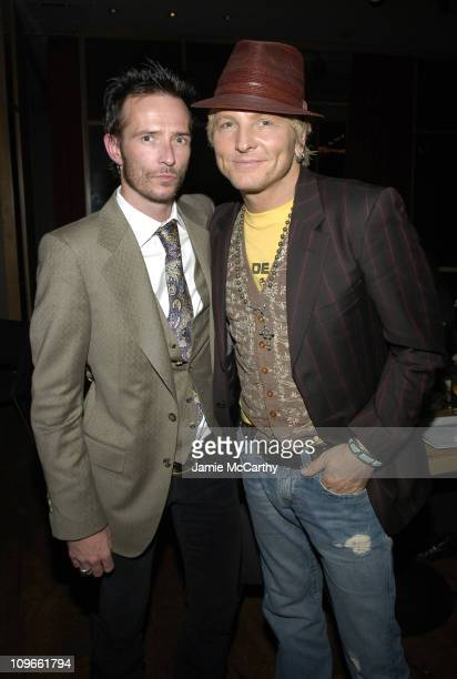Scott Weiland and Matt Sorum during Anniversary Weekend of Body English at Hard Rock Hotel Casino Dinner at Simon Restaurant at Hard Rock Hotel...