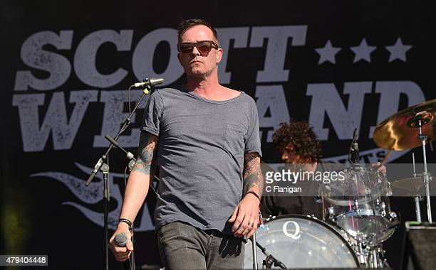 Scott Weiland and the Wildabouts perform at Bottle Rock festival at Napa Valley Expo on May 30 2015 in Napa California