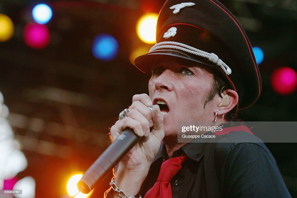 Scott weiland singer of velvet revolver performs on stage at the third