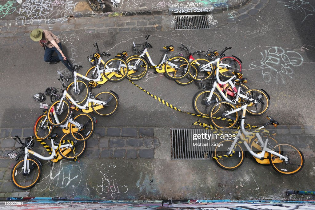 Unknown Artist Creates oBike Mural In Fitzroy