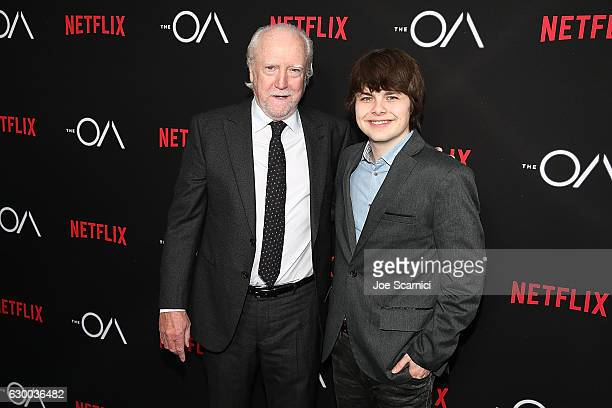 Scott Wilson and Brendan Meyer arrive at the Premiere of Netflix's 'The OA' at the Vista Theatre on December 15 2016 in Los Angeles California