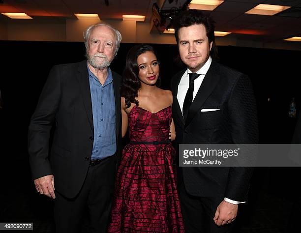 Scott Wilson Christian Serratos and Josh McDermitt attend the AMC's 'The Walking Dead' Season 6 Fan Premiere Event 2015 at Madison Square Garden on...