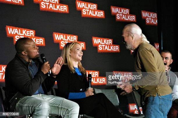 Scott Wilson Laurie Holden and Irone Singleton talk about their time on the Walking Dead during a panel discussion at Walker Stalker Con in...