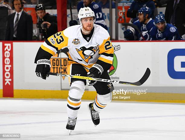 Scott Wilson of the Pittsburgh Penguins skates against the Tampa Bay Lightning at PPG Paints Arena on January 8 2017 in Pittsburgh Pennsylvania