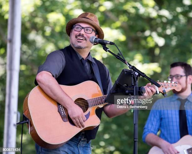 Scott Wolfson at the RocklandBergen Music Festival at German Masonic Park on June 24 2017 in Tappan New York