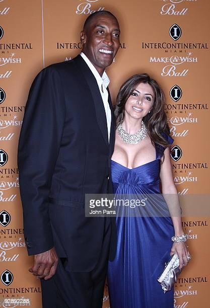 Scottie Pippen and Larsa Pippen attend 15th Annual InterContinental Miami MakeAWish Ball on November 7 2009 in Miami Florida