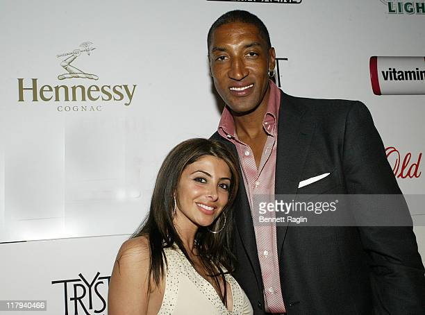 Scottie Pippen and wife Larsa during 2007 NBA AllStar in Las Vegas ESPN After Dark Party Sponsor by Hennessy at Tryst at the Wynn in Las Vegas Navada...