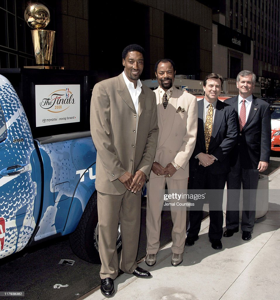 Scottie Pippen Walt 'Clyde' Frazier Steve JettNational Advertising and Event Marketing Manager for Toyota and John Hanson SVP for Marketing and...