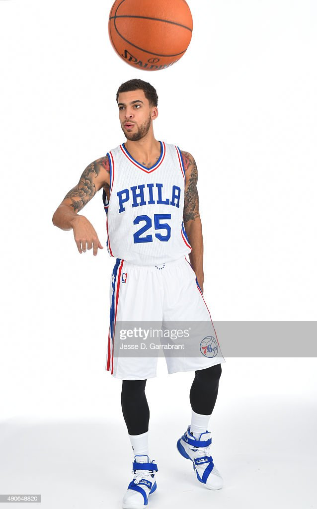 Scottie Wilbekin of the Philadelphia 76ers poses for a photo during media day on September 28 2015 in Galloway New Jersey NOTE TO USER User expressly...