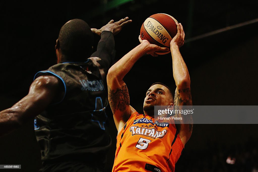 Scottie Wilbekin of the Taipans shoots during game two of the NBL Grand Final series between the New Zealand Breakers and the Cairns Taipans at North...