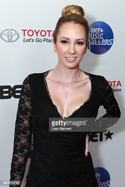 Scottine Sheen attended the BET Music Matters Grammy Showcase at HOME on February 6 2015 in Beverly Hills California