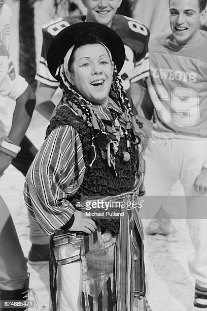 Scottish actor and comedian Ronnie Corbett in costume as pop singer Boy George in a musical sketch on the BBC TV comedy show 'The Two Ronnies' London...
