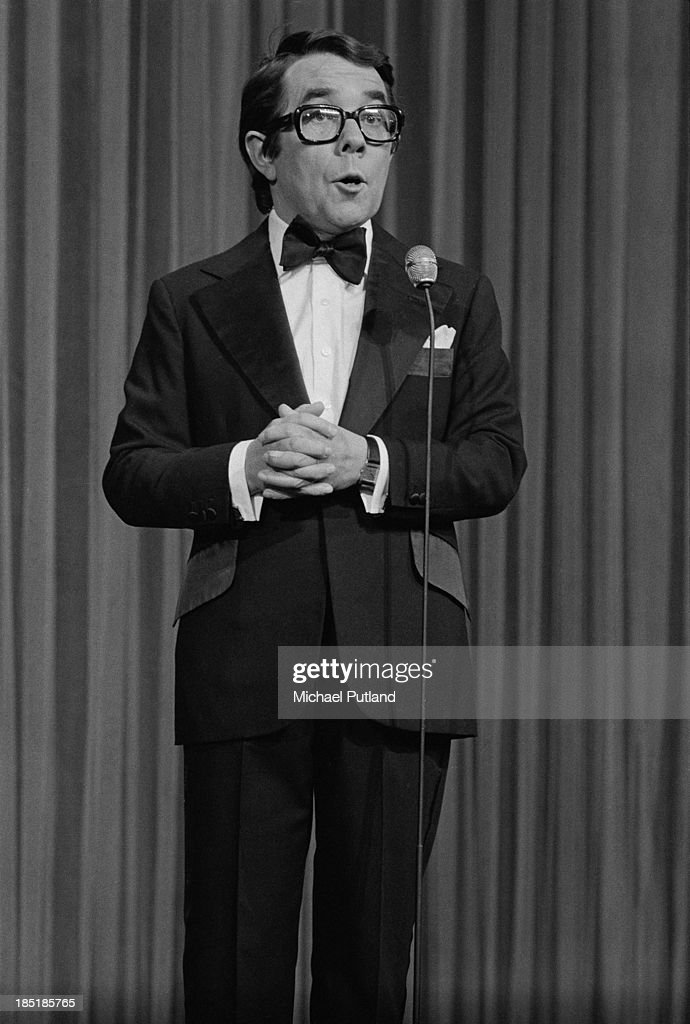 Scottish actor and comedian Ronnie Corbett on stage at the London Palladium during the Royal Variety Performance London 26th November 1973