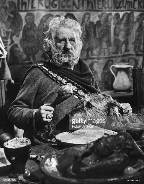 Scottish actor Finlay Currie as Cedric in the film 'Ivanhoe' directed by Richard Thorpe for MGM films Currie worked as a choirmaster and organist...