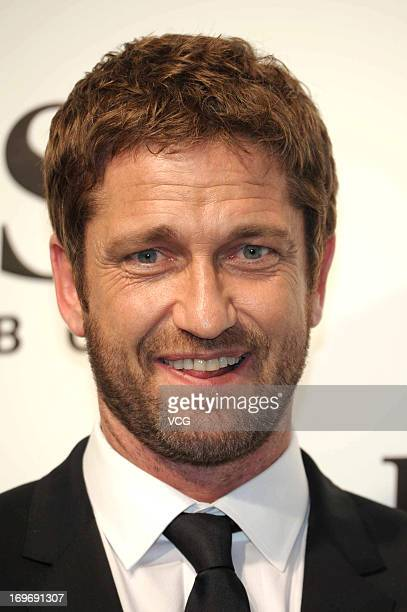 Scottish actor Gerard Butler attends the HUGO BOSS 2013 F/W 2013 Show on May 30 2013 in Shanghai China