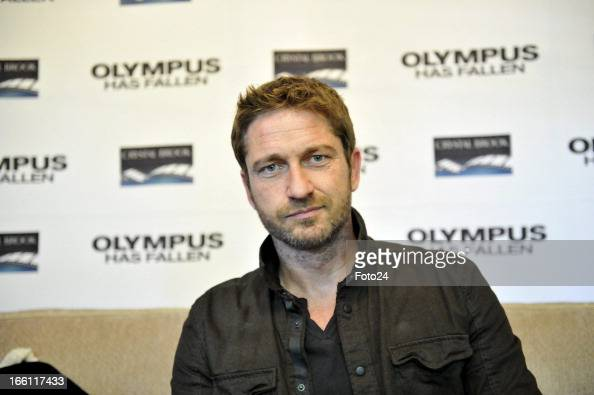 Scottish actor Gerard Butler on April 8 in Johannesburg South Africa Butler and costar Aaron Eckhart are in South Africa for the premier of their...
