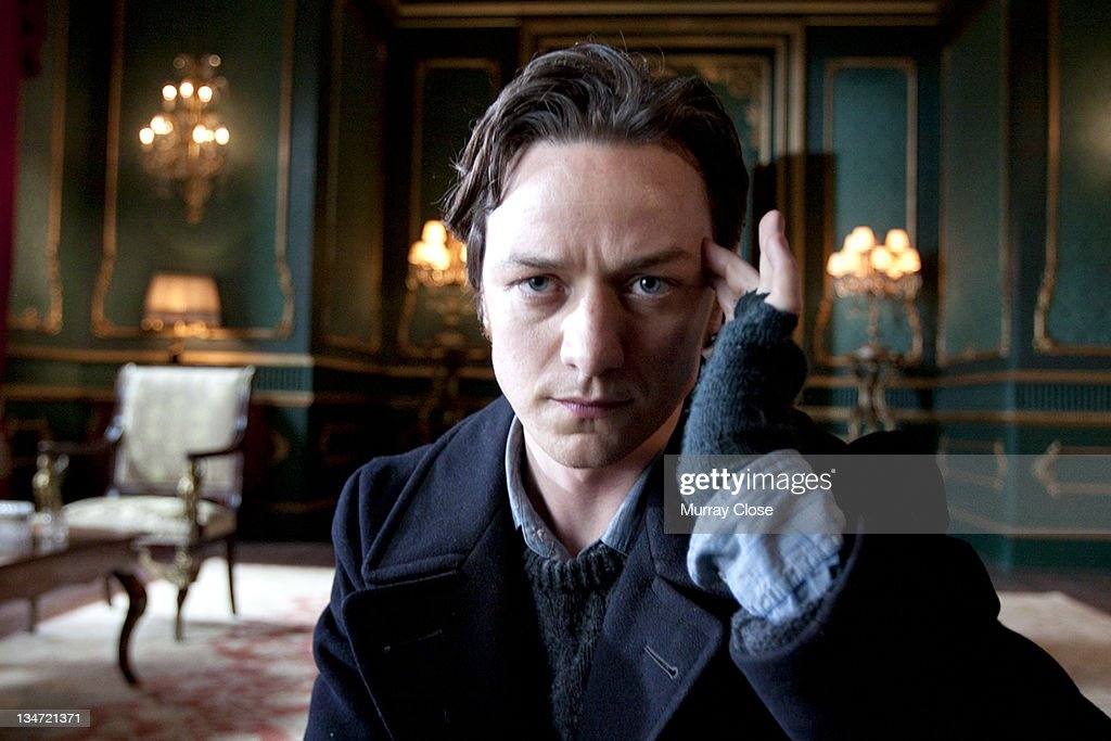 Scottish actor James McAvoy as Charles Xavier exercising his mental powers in a scene from the film 'XMen First Class' 2011