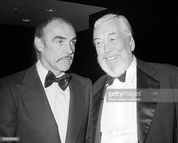 Scottish actor Sean Connery and American director John Huston at the premiere party for 'The Man Who Would Be King' at Nathan's in New York City 16th...