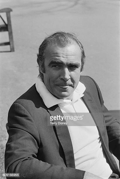 Scottish actor Sean Connery outside the Savoy Hotel in London UK 11th April 1971