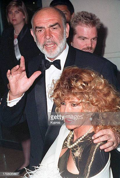 Scottish actor Sean Connery with his wife Micheline circa 1992