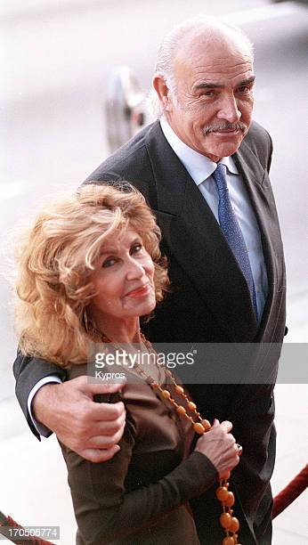 Scottish actor Sean Connery with his wife Micheline circa 1995