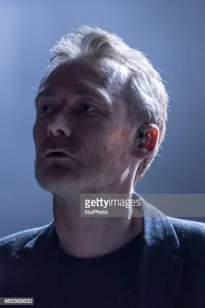Scottish alternative rock band The Jesus And Mary Chain perform on atage at O2 Empire Shepherd's Bush London on April 5 2017 The band revolves around...