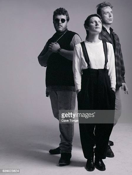 Scottish alternative rock group Cocteau Twins Clapham Junction London United Kingdom 1993 Left to right Robin Guthrie Elizabeth Fraser and Simon...