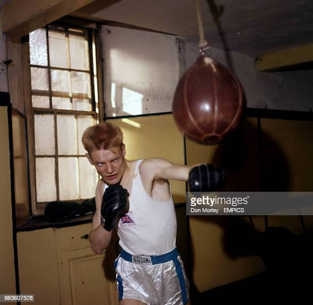 Scottish amateur Lightweight boxer Dick McTaggart in training Dick McTaggart won the Gold Medal at the 1956 Summer Olympics in Melbourne Australia...