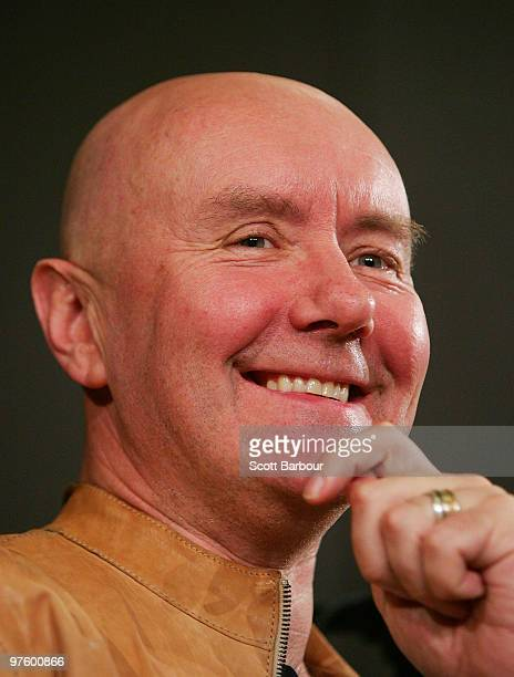 Scottish author Irvine Welsh discusses his new collection of short stories titled 'Reheated Cabbage' at The Wheeler Centre on March 10 2010 in...