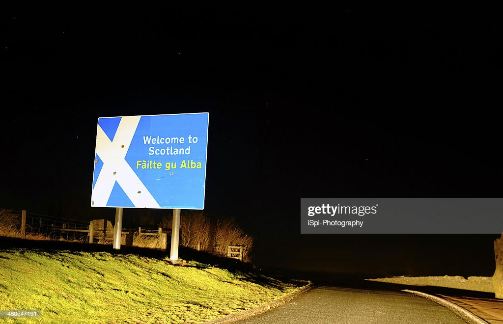 Schottischen Grenze bei Nacht : Stock-Foto
