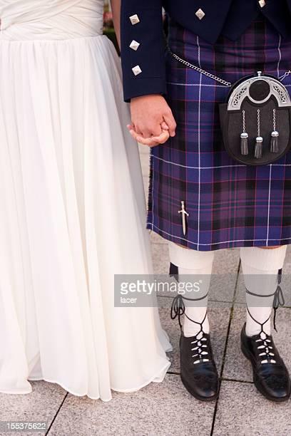 Scottish le marié et la mariée