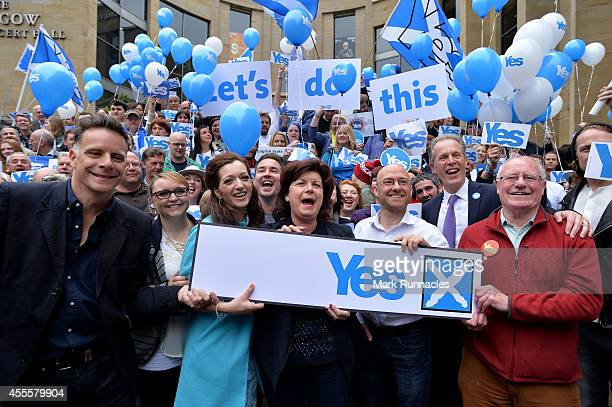 Scottish celebrities and activists for the Yes campaign Singer Ricky Ross Sarah Jane Walls of Yes Scotland Tasmina Ahamed of Yes Scotland Actress...