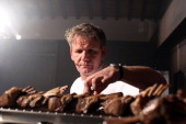Scottish chef Gordon Ramsay holds a cooking class at the Castel Monastero Resort on July 5 2012 in Castel Monastero Siena Italy