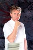 Scottish chef Gordon Ramsay poses at the Castel Monastero Resort on July 6 2012 in Castel Monastero Siena Italy