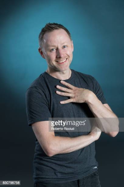 Scottish comedian and actor Brian Limond aka Limmy attends a photocall during the annual Edinburgh International Book Festival at Charlotte Square...