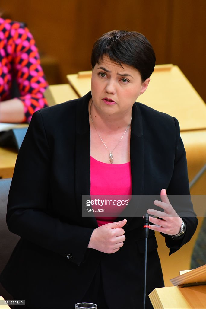 Scottish Conservative leader Ruth Davidson responds to a statement by First Minister Nicola Sturgeon to the Scottish Parliament, on her Government's policy programme for the next five years,